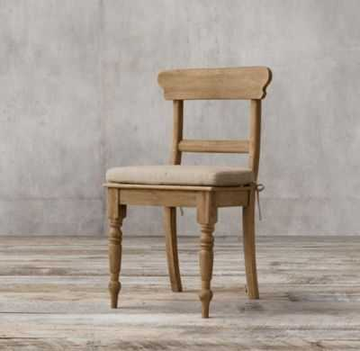 19Th C. English Schoolhouse Side Chair - Weathered Oak Drifted - RH