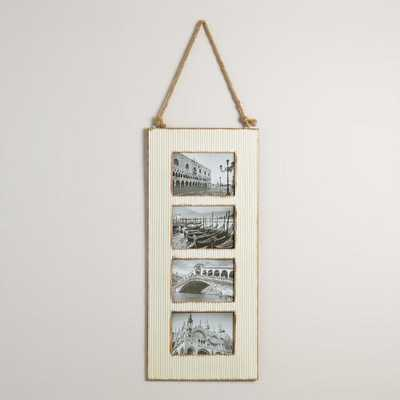 Ivory Barn Metal 4-Photo Frame - World Market/Cost Plus