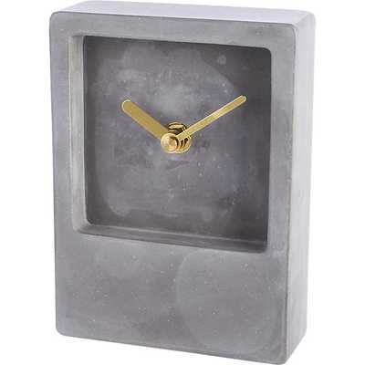 Around the block table clock - CB2