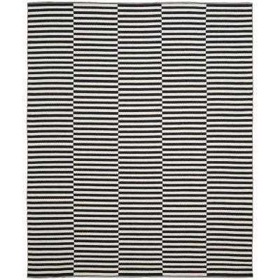 Montauk Ivory/Black 8 ft. x 10 ft. Area Rug - Home Depot