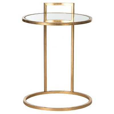 Alecto End Table Gold/Mirror - Safavieh - Target