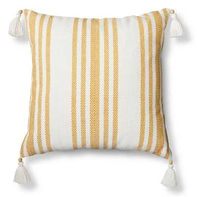 "Woven Stripe Throw Pillow, Sour cream - 18"" - With Insert - Target"