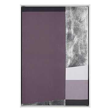 Structured Amethyst - 25.5''W x 37.5''H - framed - Z Gallerie