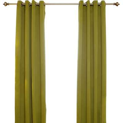 "Curtain Panel - 108"" L x 52"" W - Olive - Wayfair"