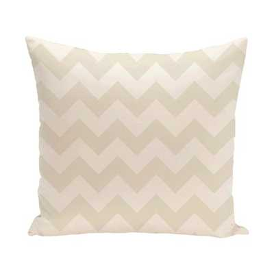 "Chevron Throw Pillow - Ivory / Cream - 16"" H x 16"" W - Polyfill - AllModern"