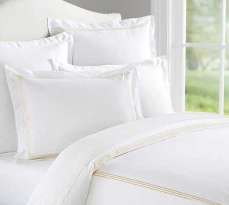 GRAND EMBROIDERED 200-THREAD-COUNT DUVET COVER - Pottery Barn