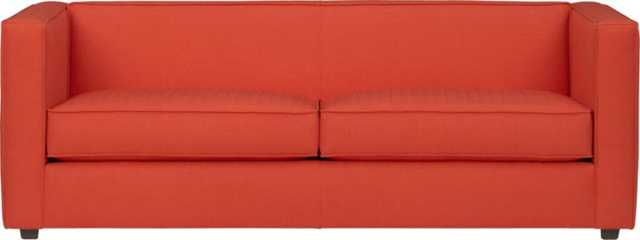 The Hill-Side chambray club sofa - CB2