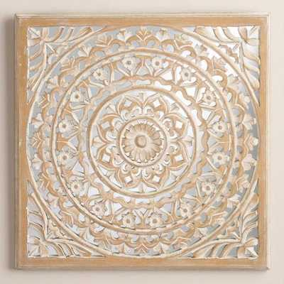 Carved Mirrored Leela Wall Plaque - World Market/Cost Plus