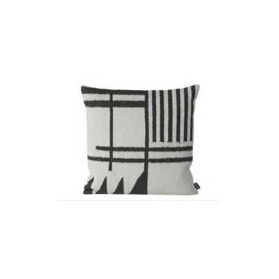"Kelim Pillow-Black Lines- 19.69"" x 19.69"" - Down Filled - Lulu and Georgia"