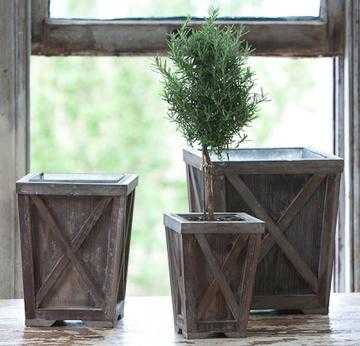 TOWN & COUNTRY PLANTERS - SET OF 3 - Home Decorators
