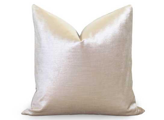 """Glisten Velvet Pillow Cover -Champagne- 20"""" x 20""""- Insert Sold Separately - Etsy"""