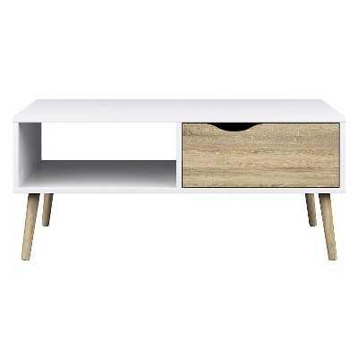 Tvilum Delta Coffee Table - White/Oak - Target