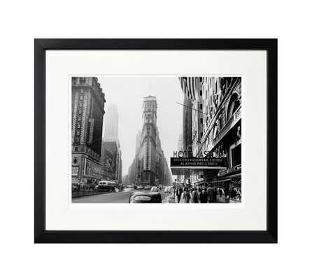"""The New York Times Archive - Hotel Astor - 1945-20"""" X 17""""-Framed - Pottery Barn"""