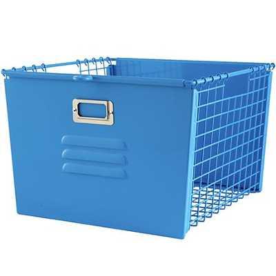Blue Metal Locker Basket - Land of Nod
