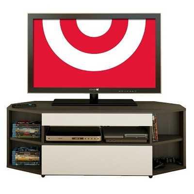 """Allure Corner TV Stand White and Ebony 48"""" - Nexera - Target"""