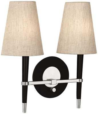 "Jonathan Adler 16"" Wide Polished Nickel Ventana Wall Lamp - Lamps Plus"