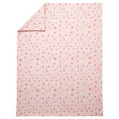 Twin Go Lightly Floral Duvet Cover (Pink) - Land of Nod