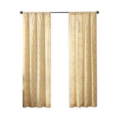 "Greve Strand Curtain Single Panel - Yellow - 84"" H x 42"" W - Wayfair"