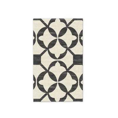 Tile Wool Kilim - Iron - 3'x5' - West Elm
