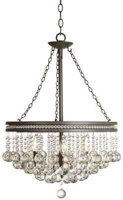 Wide Crystal Chandelier - Lamps Plus