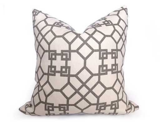 Decorative Pillow-20 inch-Light Gray and Ivory- Insert Sold Separately - Etsy