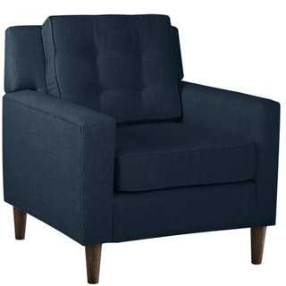 Skyline Furniture Arm Chair in Linen Navy - Overstock
