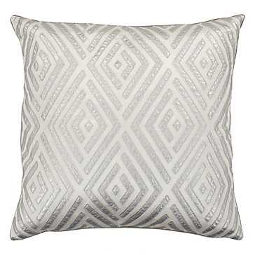 """Maestro Silver 24""""x24"""" Pillow  - With insert - Z Gallerie"""