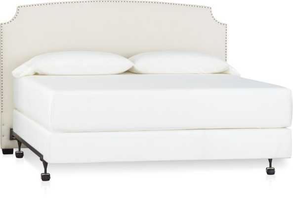 Curve Upholstered King Headboard-Natural - Crate and Barrel
