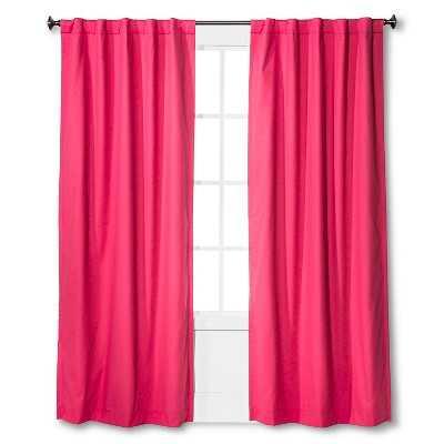 "Twill Light Blocking Curtain Panel Stripe - 95"" - Target"