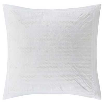 "Cario Embroidered Cotton Throw Pillow - white - 18"" -  Polyester Insert - AllModern"