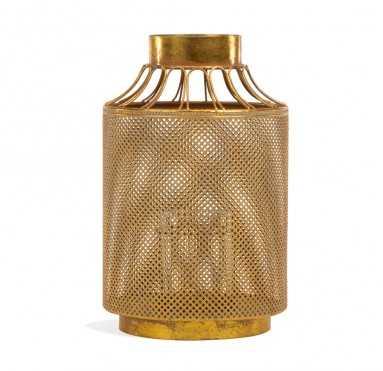 """Ornata 14.5""""H Vase/ Lantern - GoldLeaf Design Group"""
