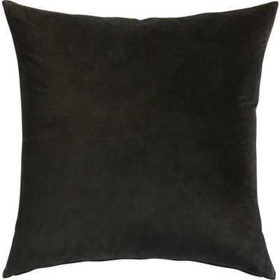 "Leisure black 23"" pillow with down-alternative insert - CB2"
