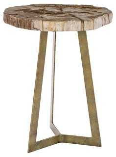 Dunn Petrified Side Table, Natural - One Kings Lane