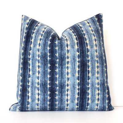 "Indigo Shibori Stripe Decorative Designer Pillow-17"" x 17""-Insert not included - Etsy"