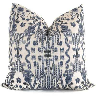 "Indigo Blue Ikat Decorative Pillow Cover - 20"" x 20"" - Insert Sold Separately - Etsy"