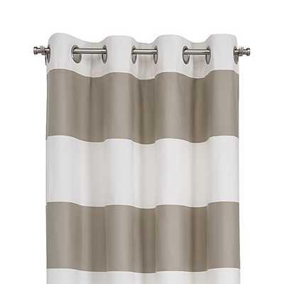 "Alston Khaki 50""x96"" Curtain Panel - Crate and Barrel"