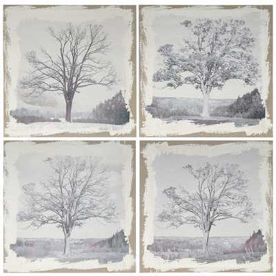 4 Piece Arboreal Wall Art Set - Wayfair