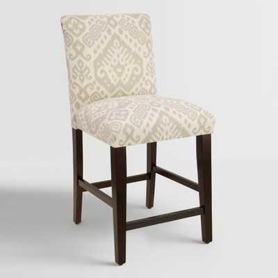 Dove Safi Kerri Upholstered Counter Stool - World Market/Cost Plus