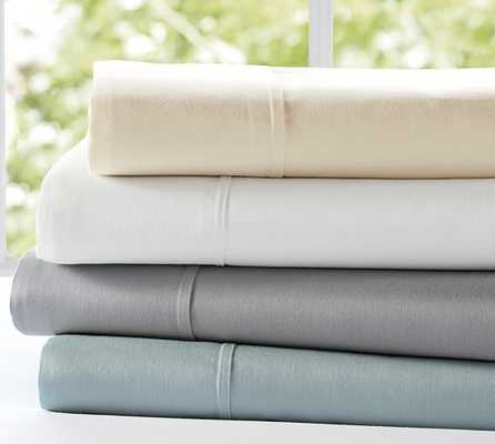 Essential 300 Thread Count King Sheet Set - Ivory - Pottery Barn