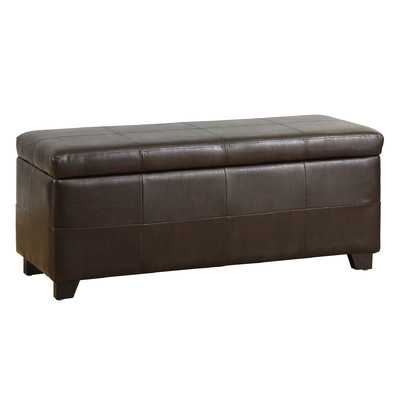 Fischer Leather Storage Ottoman - Wayfair