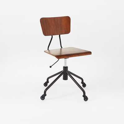 Adjustable Industrial Office Chair - West Elm