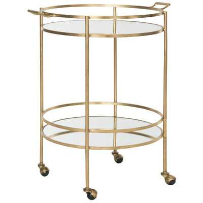 Lavinia Bar Serving Cart - Gold - Wayfair