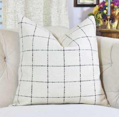 Check Pillow Cover - 20x20, No Insert - Etsy