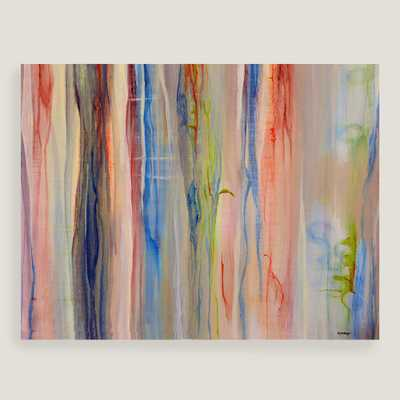 """Abstract Stripes Canvas Wall Art - 39""""W x 30""""H - Unframed - World Market/Cost Plus"""