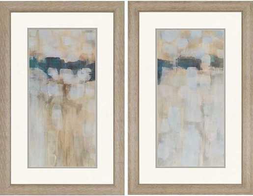 "CARBON NEUTRAL WALL ART - SET OF 2 - 38""H x 24""W  - Framed (Silver) - Hayneedle"