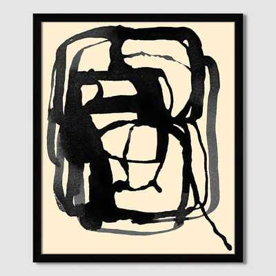 "The Arts Capsule Ink Print - Abstract Ink -  Ink Charcoal - 22""x26"" - West Elm"