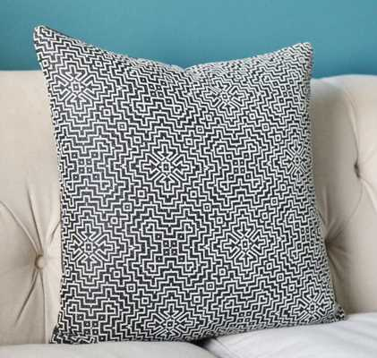 Black Geometric Pillow Cover 20x20 insert sold separately - Etsy