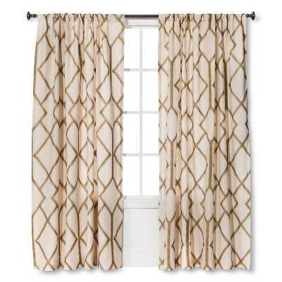 "Metallic Curtain Panel - Gold - 54"" W X 84"" L - Target"