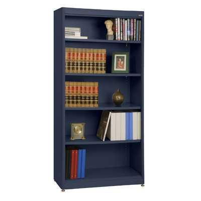 "Elite Radius Edge Stationary 72"" Standard Bookcase by Sandusky - Navy Blue - Wayfair"