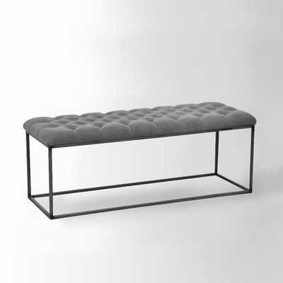 Tufted Bench - Stone Wash Granite - West Elm